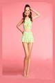小清新分体裙式比基尼