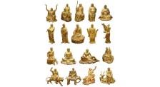 十八罗汉铜雕