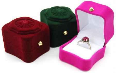 植绒珠宝首饰盒