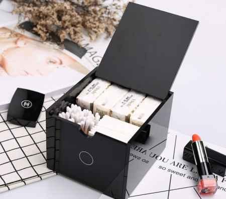 亚克力化妆棉收纳盒价格