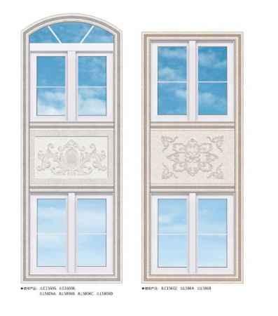 连窗拼花和屋顶拼花